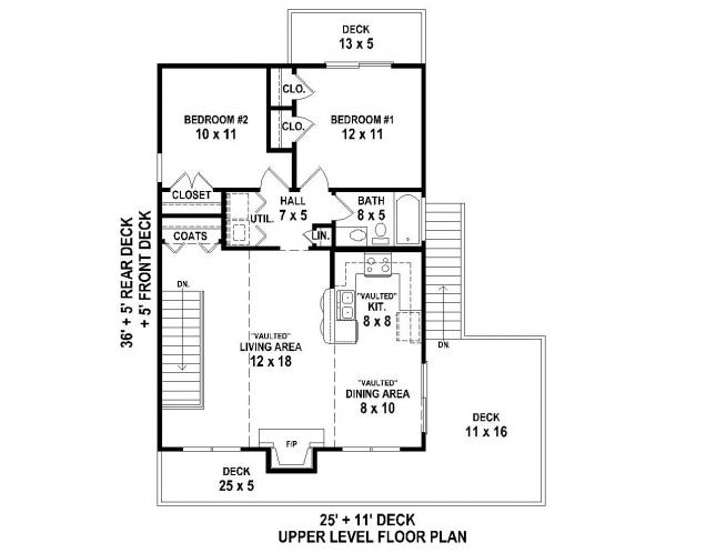 Cottage House Plan -  32325
