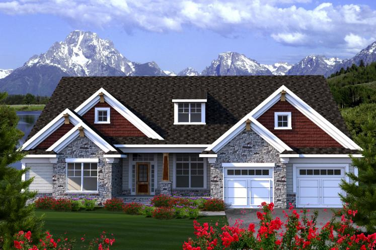 Traditional House Plan -  32444 - Front Exterior