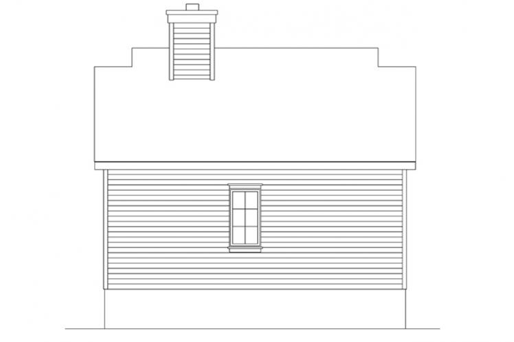 Bungalow House Plan -  32464 - Rear Exterior