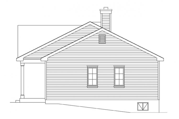 Cottage House Plan -  32464 - Right Exterior