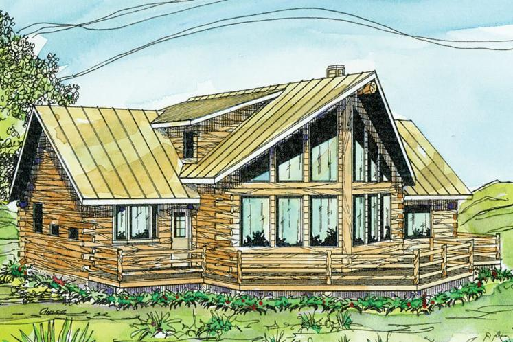 A-Frame House Plan - Aspen 32503 - Rear Exterior