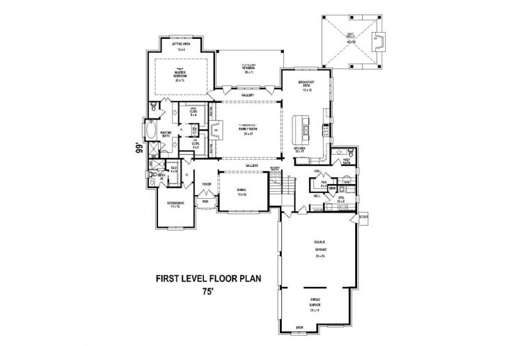 Classic House Plan -  32530 - 1st Floor Plan