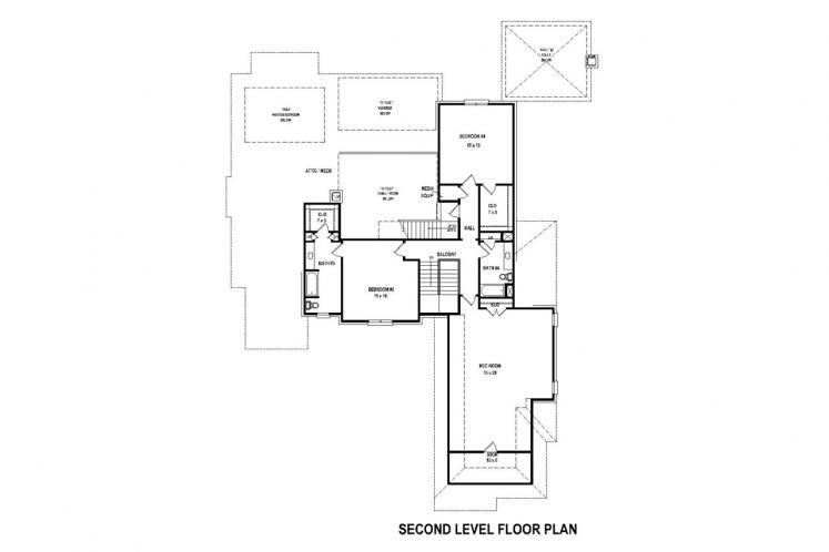 Southern House Plan -  32530 - 2nd Floor Plan