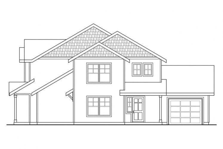 Country Multi-family Plan - Vernon 32545 - Right Exterior