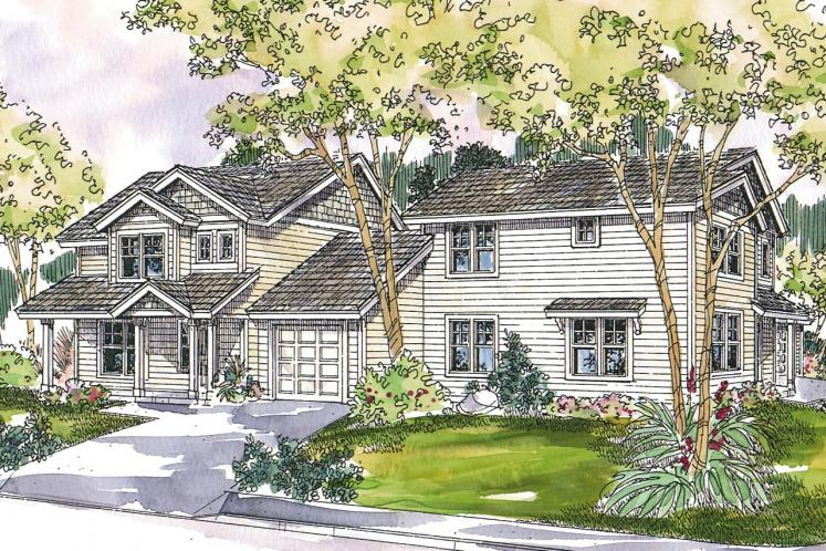 Country Multi-family Plan - Vernon 32545 - Front Exterior