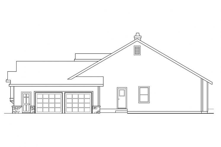 Country House Plan - Rainier 32681 - Right Exterior