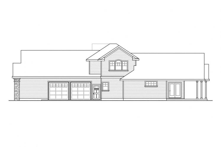 Cape Cod House Plan - Canyonville 32750 - Right Exterior