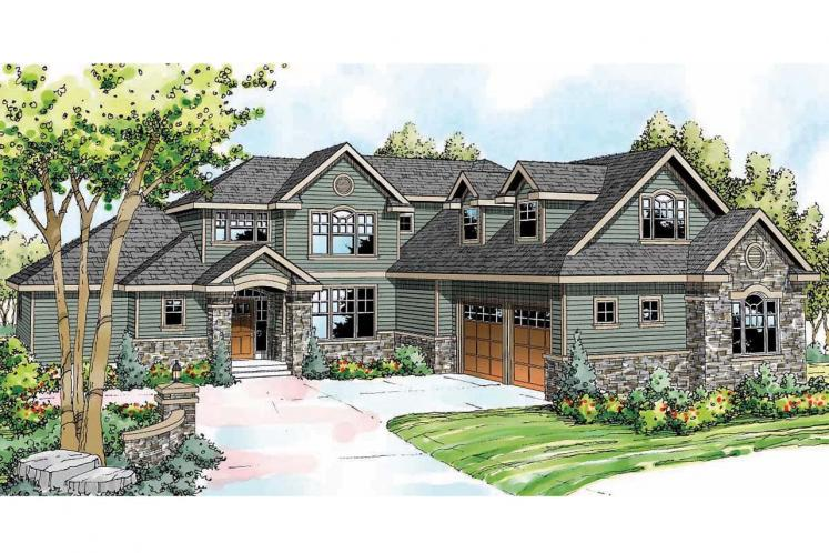 Cape Cod House Plan - Canyonville 32750 - Front Exterior