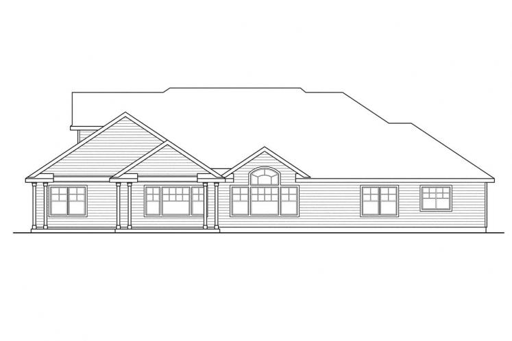 Traditional House Plan - Canyonville 32750 - Rear Exterior