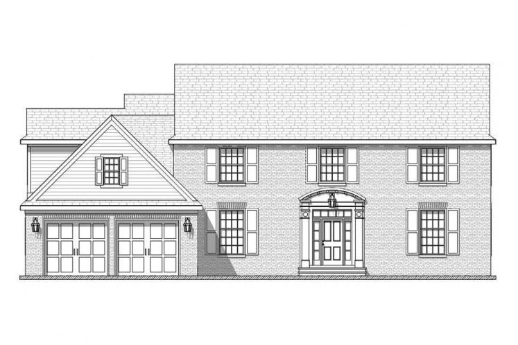 Colonial House Plan - Bonnell 32758 - Front Exterior