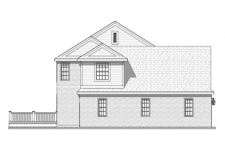 Traditional House Plan - Bonnell 32758 - Left Exterior