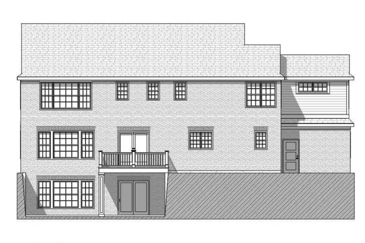 Traditional House Plan - Bonnell 32758 - Rear Exterior