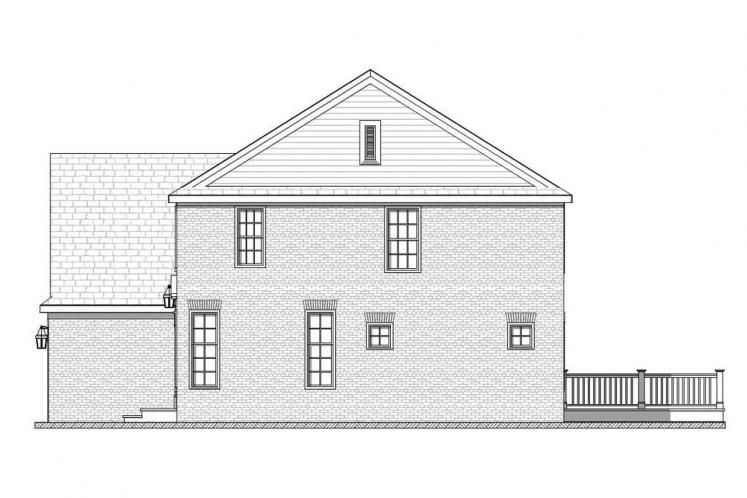 Colonial House Plan - Bonnell 32758 - Right Exterior