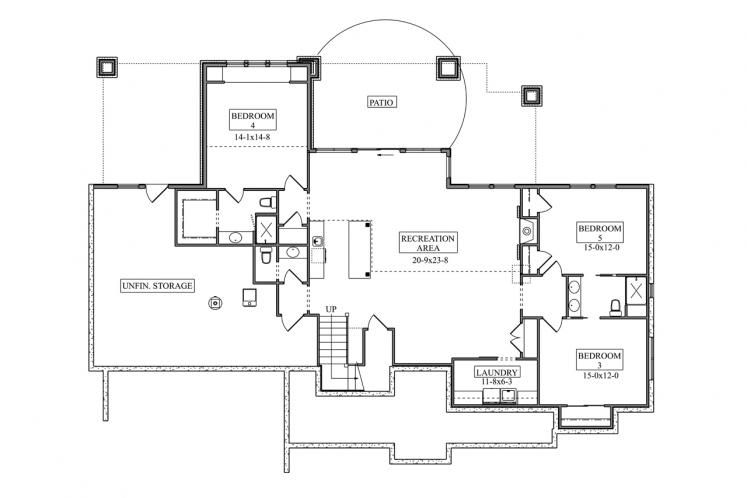 Ranch House Plan - Catalina Ridge 32773 - Basement Floor Plan