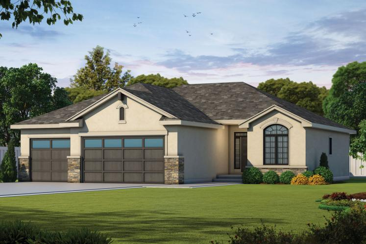 Traditional House Plan - Jensen Place 32836 - Front Exterior