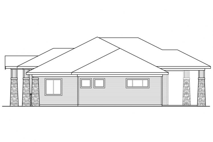 Craftsman House Plan - Heartlodge 32847 - Right Exterior