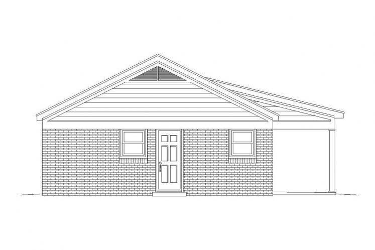 Traditional House Plan -  32923 - Left Exterior