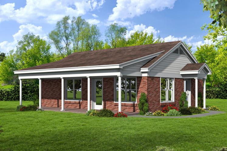 Cottage House Plan -  32923 - Front Exterior