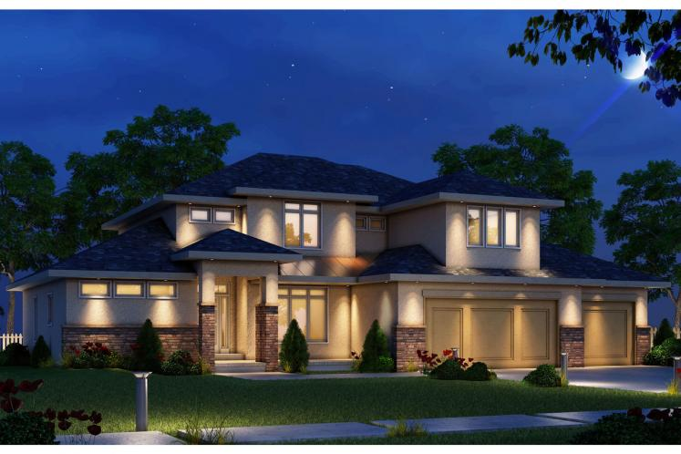 Contemporary House Plan - Peony Grove 32940 - Front Exterior