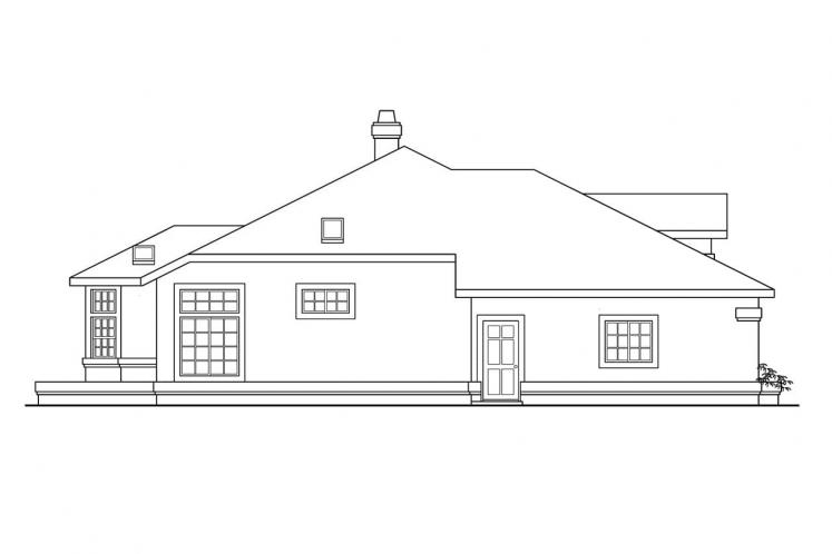 Ranch House Plan - Cibola 32998 - Left Exterior