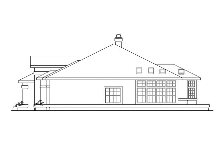 Southwest House Plan - Cibola 32998 - Right Exterior