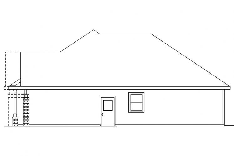 Craftsman House Plan - Adrian 33046 - Right Exterior