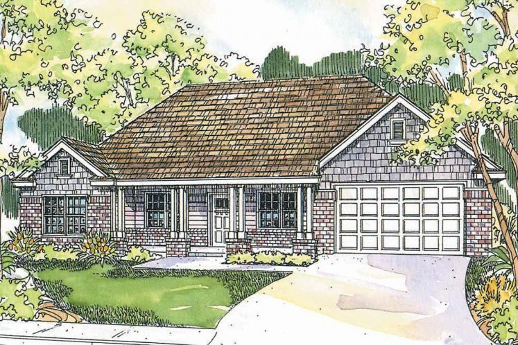 Craftsman House Plan - Adrian 33046 - Front Exterior