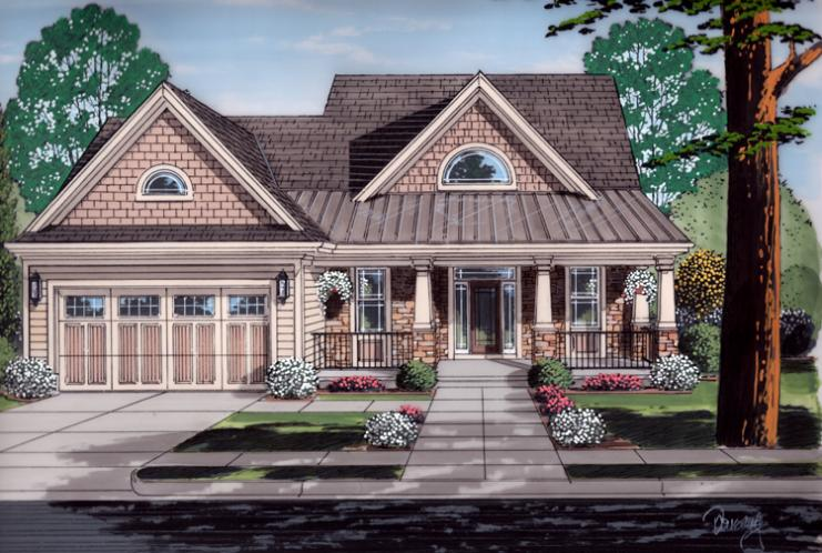 Contemporary House Plan - The Soltaire 33224 - Front Exterior