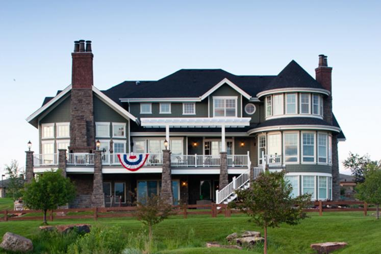 Classic House Plan - New Haven 33225 - Rear Exterior
