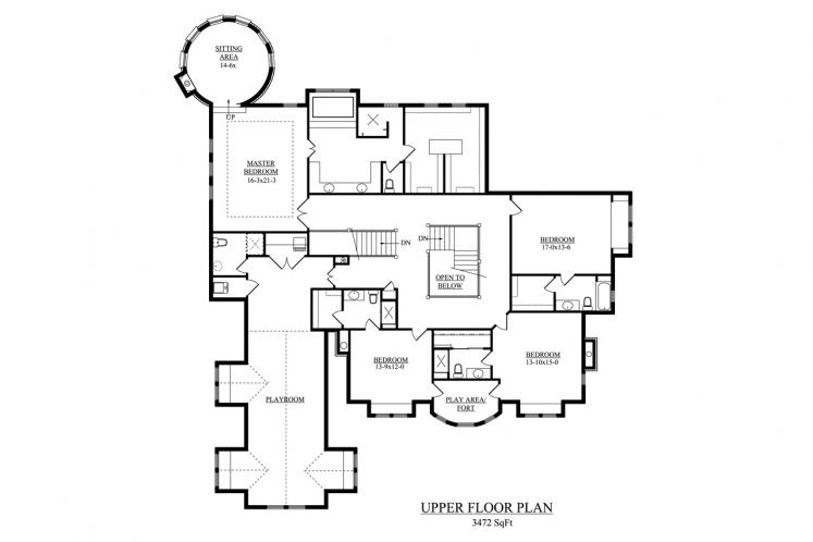 Victorian House Plan - New Haven 33225 - 2nd Floor Plan