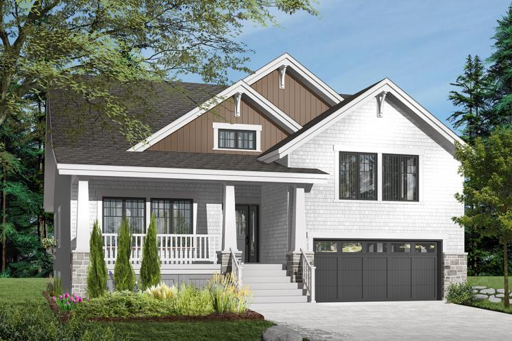 Craftsman House Plan - Briardale 33250 - Front Exterior