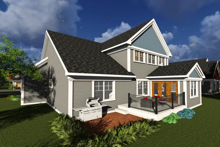Traditional House Plan -  33411 - Rear Exterior