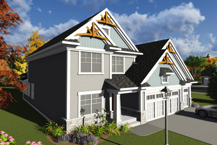 Craftsman House Plan -  33411 - Front Exterior