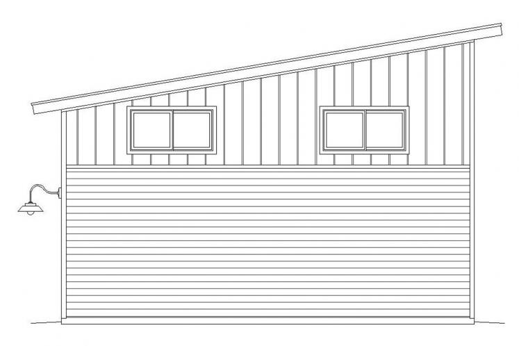 Modern Garage Plan -  33463 - Rear Exterior