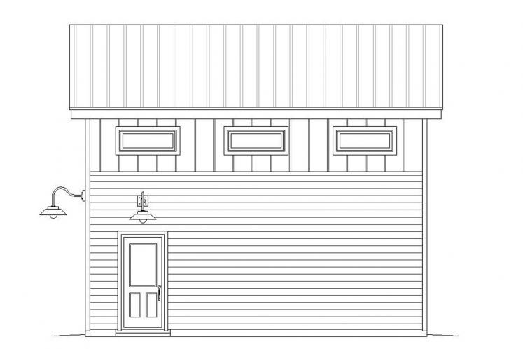 Modern Garage Plan -  33463 - Right Exterior