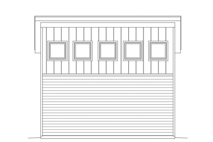 Contemporary Garage Plan -  33463 - Left Exterior