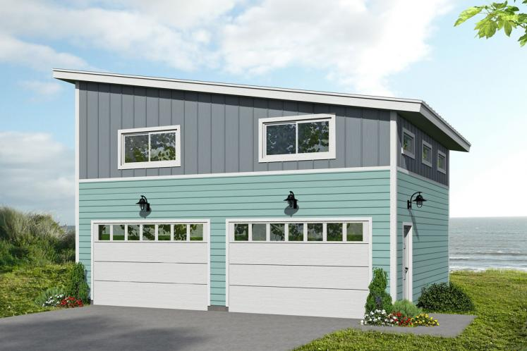 Contemporary Garage Plan -  33463 - Front Exterior