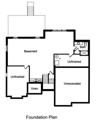 Traditional House Plan - The Applewood 33488 - Basement Floor Plan