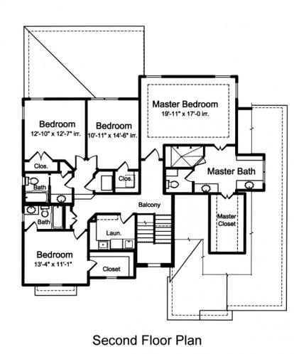 Traditional House Plan - The Applewood 33488 - 2nd Floor Plan