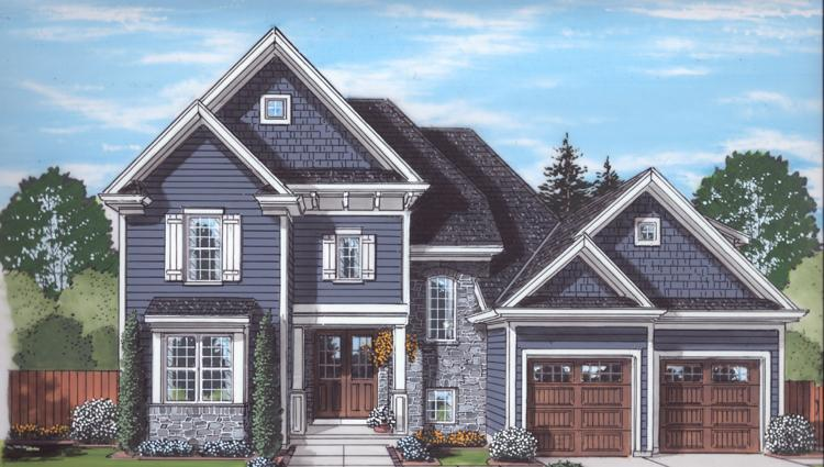 Traditional House Plan - The Applewood 33488 - Front Exterior
