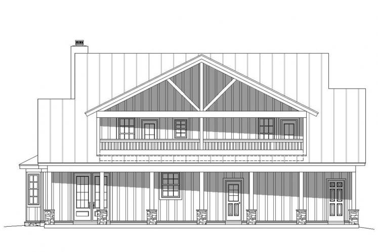 Cottage House Plan -  33508 - Rear Exterior