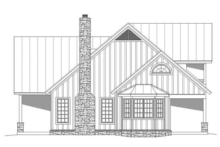 Cottage House Plan -  33508 - Right Exterior