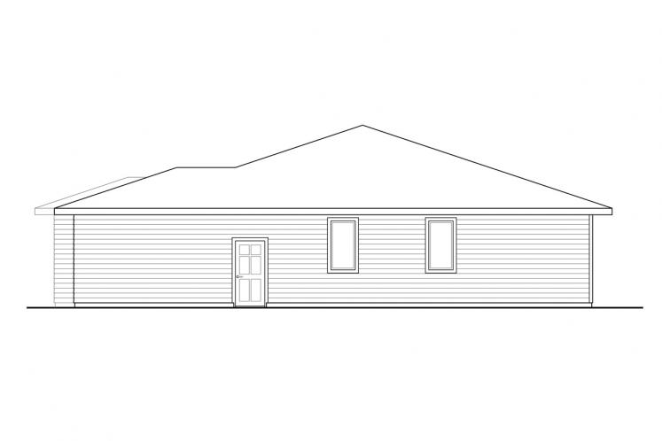 Ranch House Plan - Chicory 33510 - Right Exterior