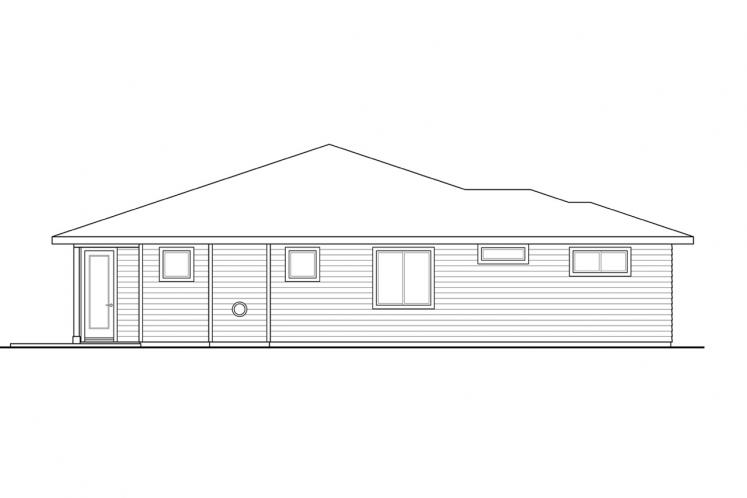 Prairie House Plan - Chicory 33510 - Left Exterior