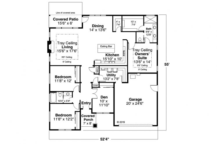 Traditional House Plan - Chicory 33510 - 1st Floor Plan