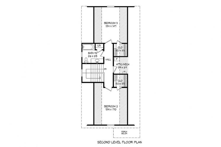 Cottage House Plan -  33521 - 2nd Floor Plan