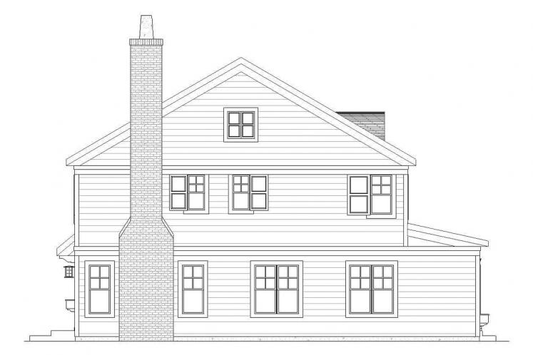 Country House Plan - Belvedere 33614 - Left Exterior