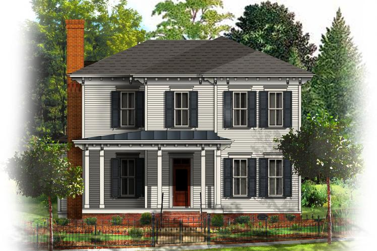 Colonial House Plan - Villa Sienna 33902 - Front Exterior