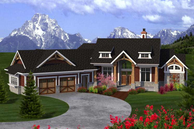 Craftsman House Plan -  33926 - Front Exterior