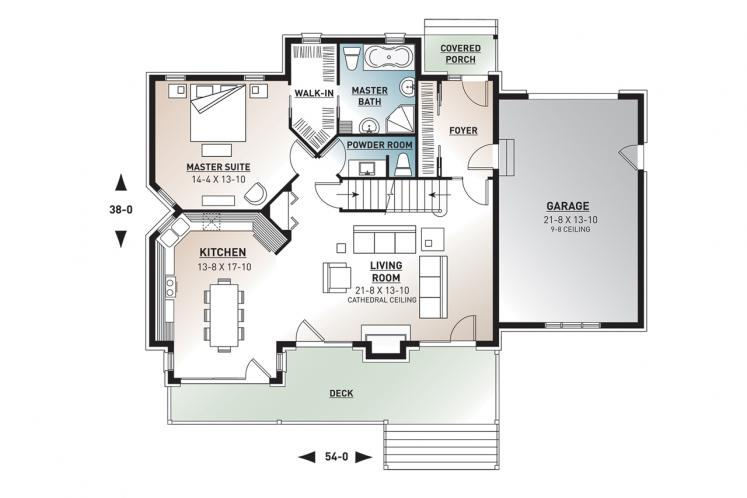 Country House Plan - The Wynstone 34000 - 1st Floor Plan